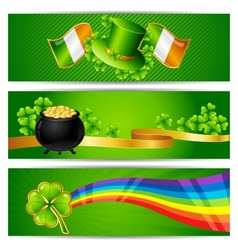 Banners for Saint Patricks day vector image