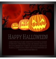 big halloween banner with carved vector image