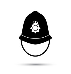 british police helmet icon vector image