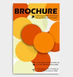 business brochure design template flyer layout vector image