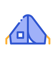 camping tent alpinism sport equipment icon vector image