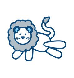 cartoon lion icon image vector image