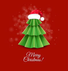Christmas greeting card with santa claus hat vector