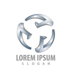 circular spin logo concept design symbol graphic vector image