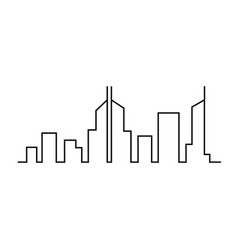 city on white background vector image