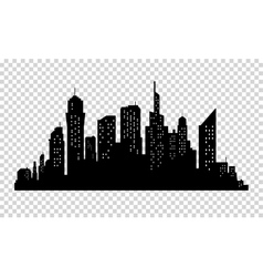 City skyline in grey colors buildings silhouette vector
