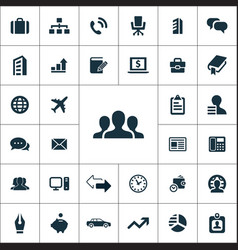 company icons universal set vector image