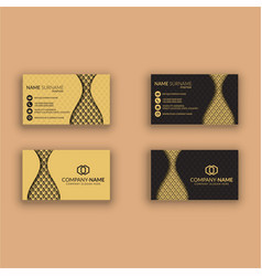 Creative modern business card vector