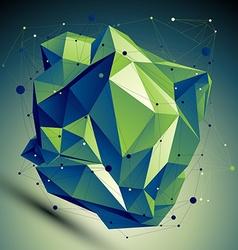 digital 3d abstraction lattice geometric polygonal vector image