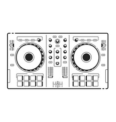 dj usb controller vector image vector image