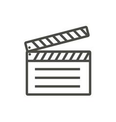 film clap icon line movie symbol vector image