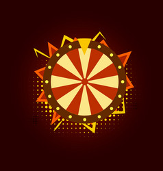 fortune wheel for gambling in casino cartoon vector image