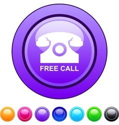 Free call circle button vector