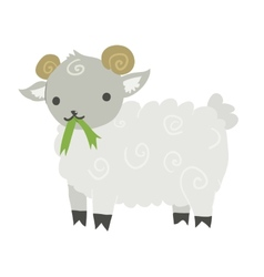 Funny cartoon sheep mascot vector image