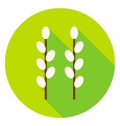 Garden Buds Circle Icon vector