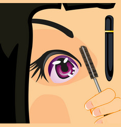 Girl dyes brow vector