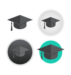 graduation cap on white vector image
