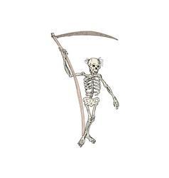 Grim Reaper Skeleton Standing vector