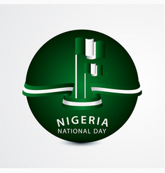 Happy nigeria national day celebration template vector