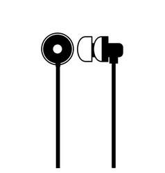 headphones audio sound icon on white background vector image