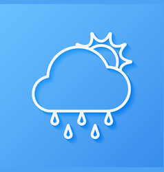 icon weather sun rain and cloud vector image