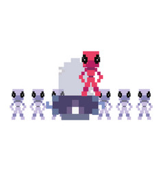 Invader video game retro vector