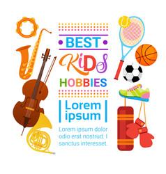 Kids hobbies art classes logo workshop creative vector
