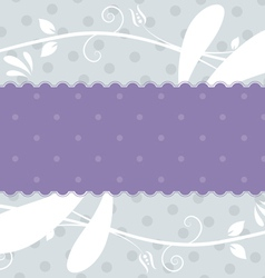 label with floral background vector image vector image