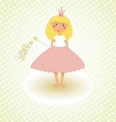 Little Princess Congratulations Card vector image
