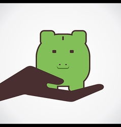 money save in piggy concept vector image