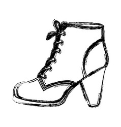 Monochrome blurred contour of leather high heel vector