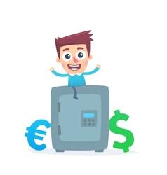 Multicurrency savings bank vector