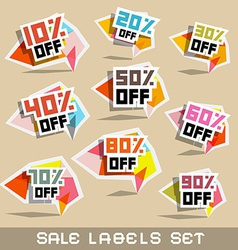 Paper Sale - Discount Labels vector image