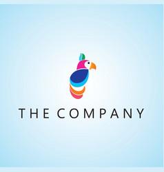 Parrot logo ideas design on vector