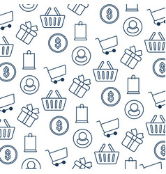 Pattern e-commerce isolated icon vector
