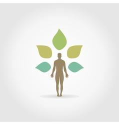 Person a plant vector image