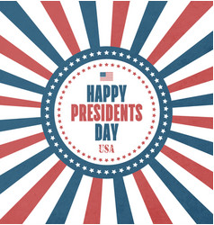 Presidents day card vector