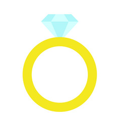 Princess party golden ring vector