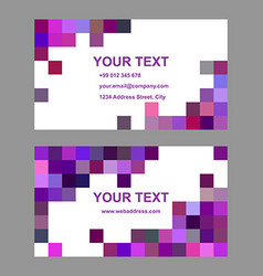 Purple geometric business card template design vector