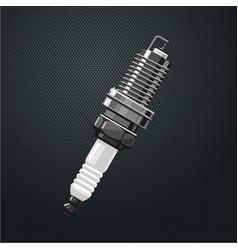 realistic spark plug part engine motor vector image