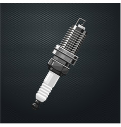 Realistic spark plug part of the engine motor vector