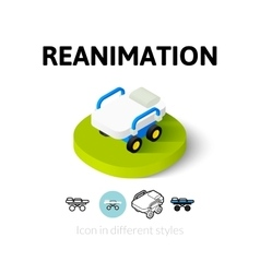 Reanimation icon in different style vector