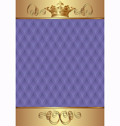 Royal background with golden ornament vector