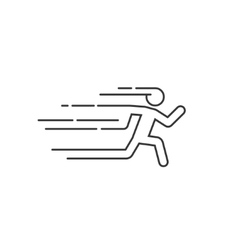 Running man with motion blur vector
