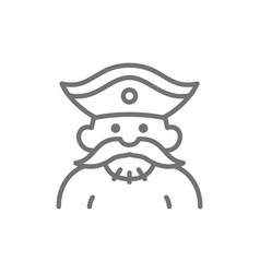 sailor pirate robber line icon vector image