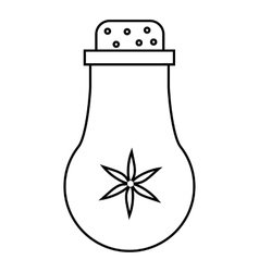Salt cellar icon outline style vector