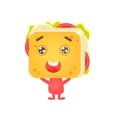 Sandwich Character Being Adorable vector image
