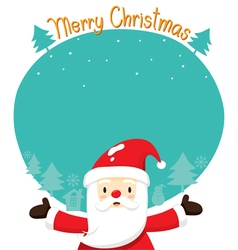 Santa Claus On Silhouette Background vector image