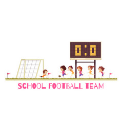 school sports game cartoon vector image