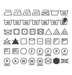 Set washing symbols vector